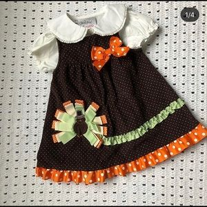 Other - Thanksgiving jumper with ribbon turkey 18 months